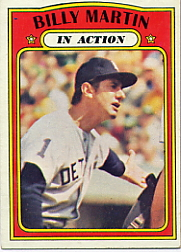 1972 Topps Baseball Cards      034      Billy Martin IA
